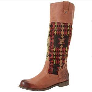 OTBT Petaluma leather western riding boot …